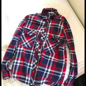 Forever 21 Red Blue And White Flannel